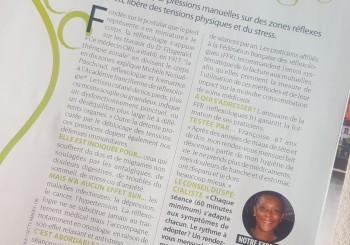 Article sur la réflexologie dans le magazine Serengo