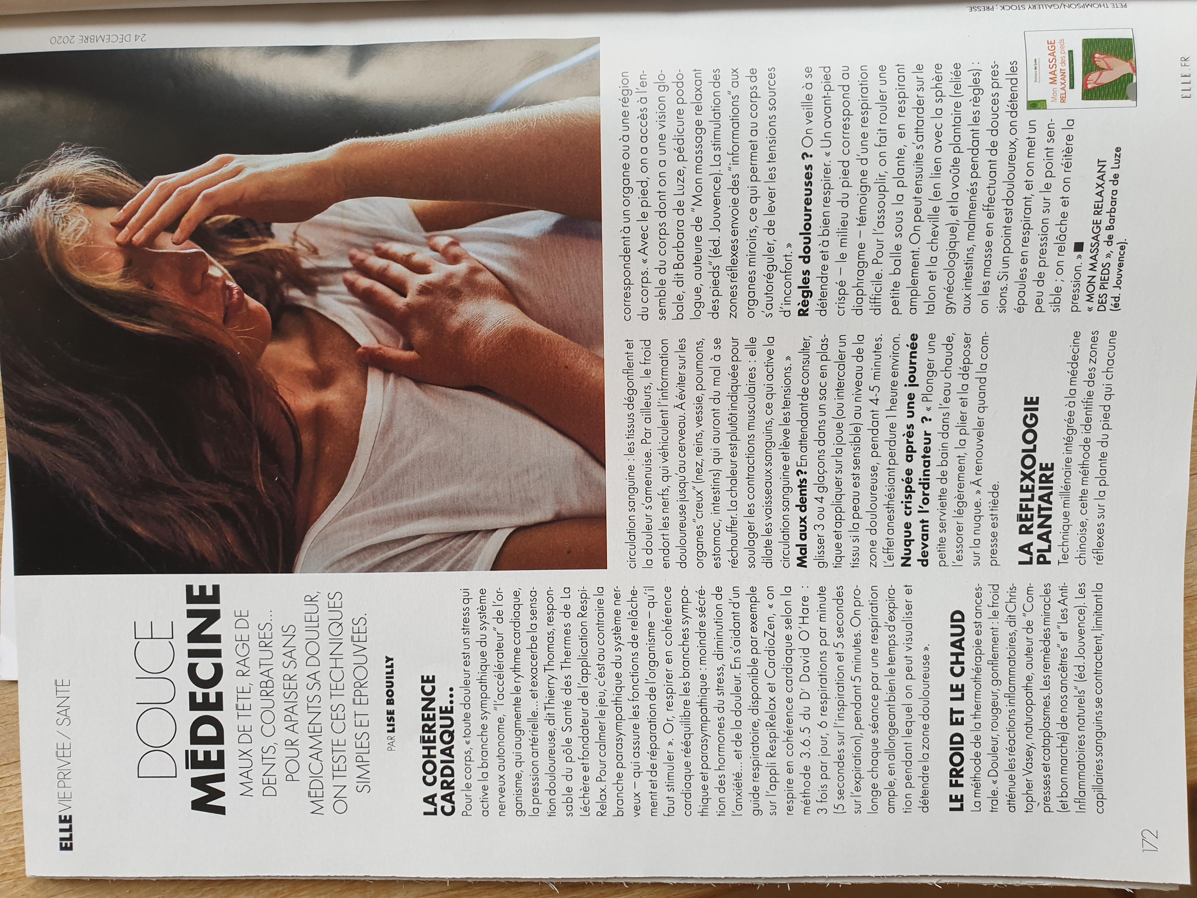 La réflexologie dans ELLE magazine